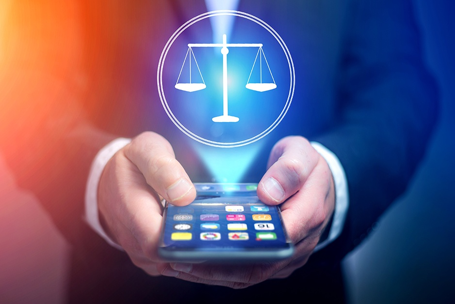 iPhone and scales of justice