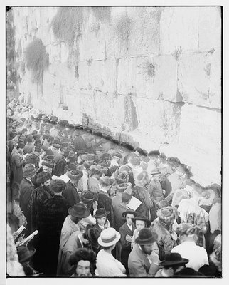 Jews Daven (Pray) to the Wall (1898)