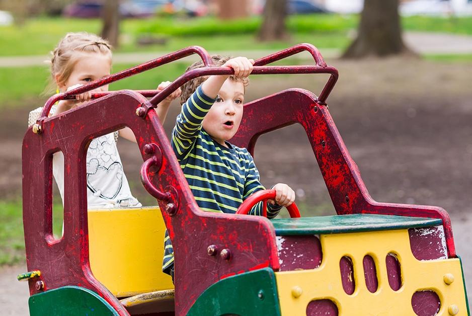 children playing symbolize public pretenders