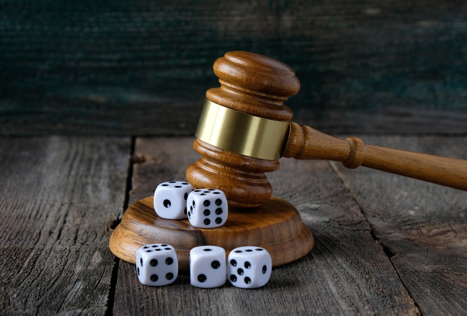 image of gavel & dice exemplify arbitrary rule of law