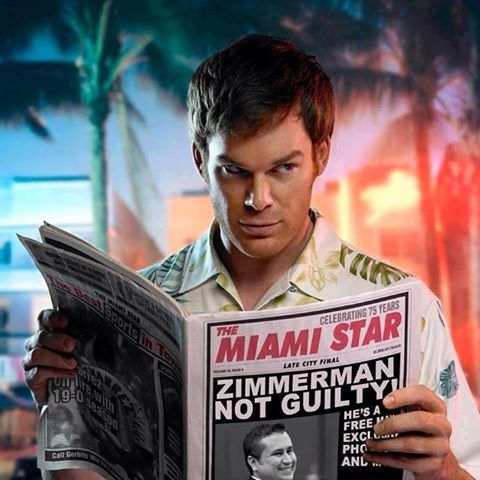 Dexter reads about Zimmerman