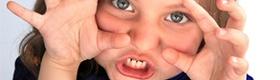 Child pretending to be monster