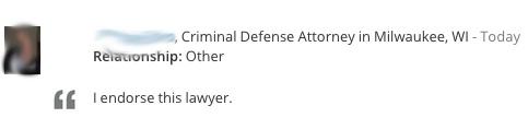 Lawyer Endorsement 3