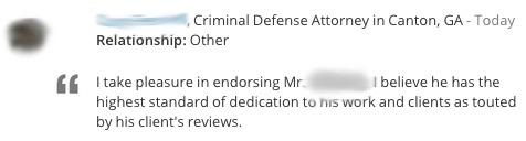 Lawyer Endorsement 4