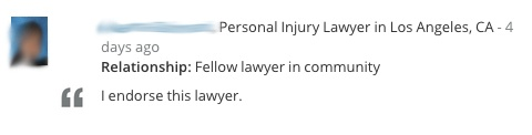 Lawyer Endorsement 5