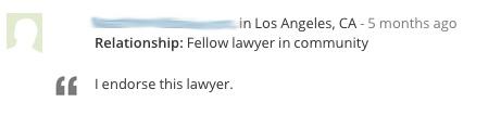 Lawyer Endorsement 6