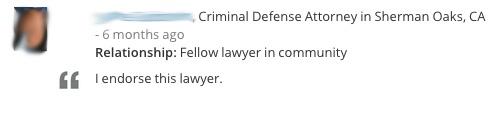 Lawyer Endorsement 7