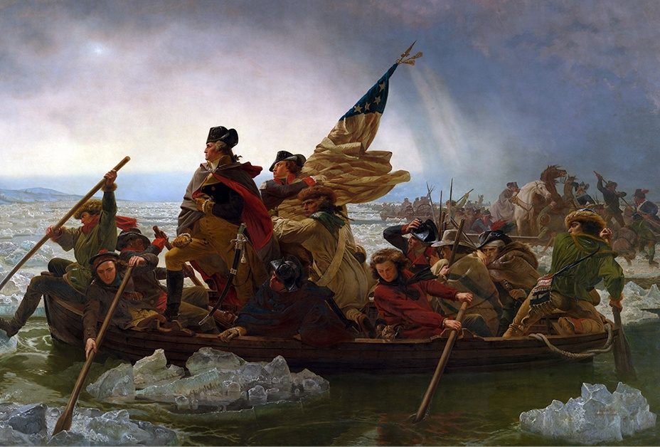 Washington Crossing the Delaware during the Revolution
