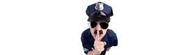 Officer shushing