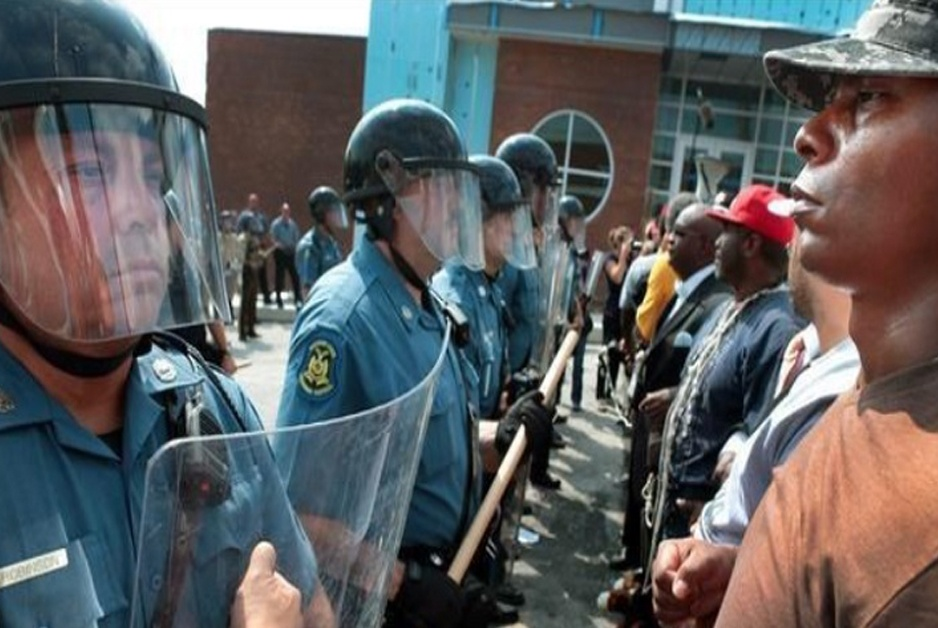 Race War shown by cops face-to-face showdown with blacks