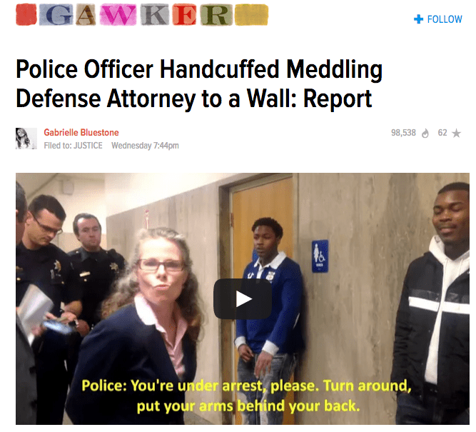"Gawker headline about ""meddling"" defense attorney"