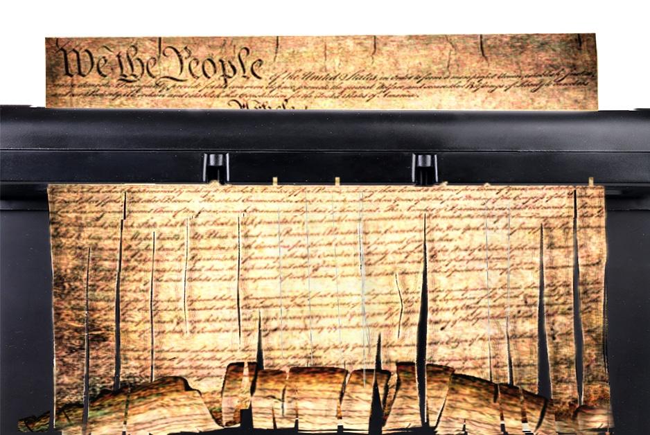 Constitution going through the shredder