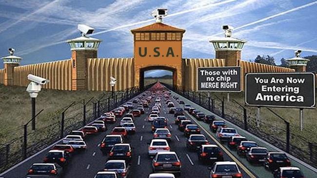 Entering America (Large)