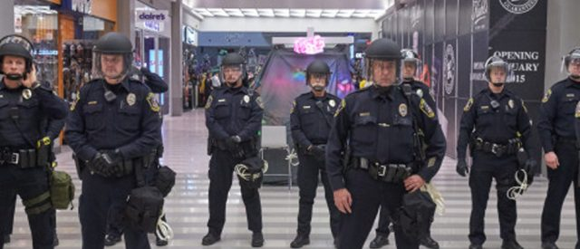 police officers lined up, and then they came for me