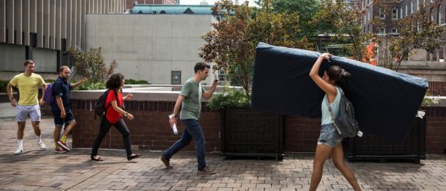 Rape Mattress carried after false accusations of rape