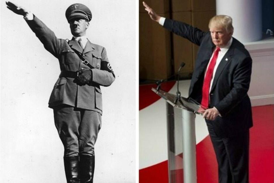 Trump / Hitler salute