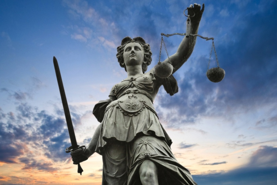 Unbearable Meaning of Justice (Lady Justice with Scales)