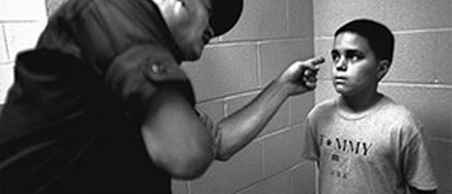 Cop intimidates kid, thus helping to teach your children well