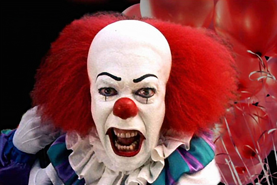 "Scary Clown says, ""Send in the clowns!"""