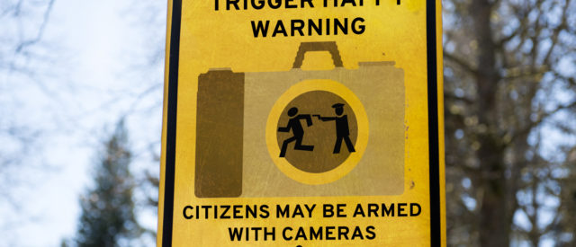 Trigger Happy Warnings sign