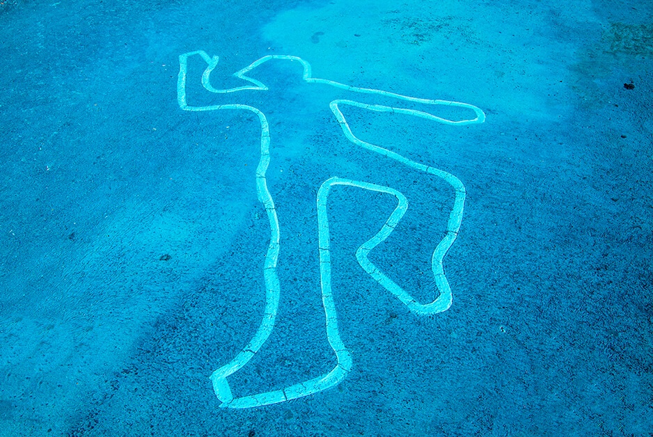 homicide - murder chalk outline - you need Fresno murder defense attorney Rick Horowitz