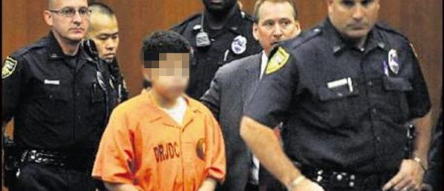 child in court, shackled and surrounded by police, needs my juvenile defense