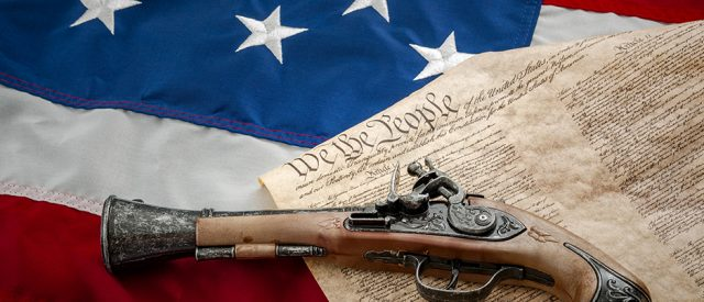musket on Constitution says nothing about gun control