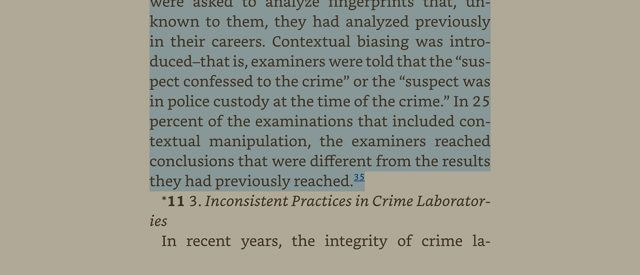 screenshot of a page from Forensic Science Testimony